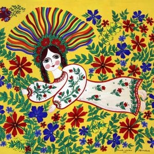 Картина Польова царівна, гуаш