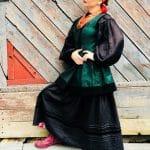 Традиційна корсетка з жаккарду, Етнографічна репліка корсетки
