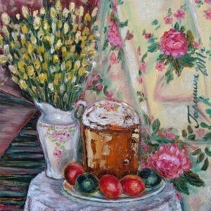 Картина Великдень, живопис, декор