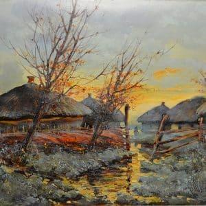 Картина Взимку, живопис, зима