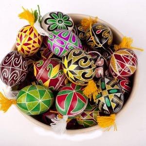 Писанка куряча, Великдень, яйця на Паску
