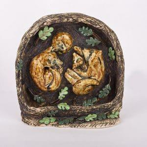 Скульптура Нора лисички, кераміка
