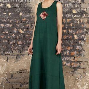 Літній бохо сарафан, жіноча сукня з ручною вишивкою