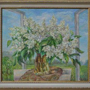 Картина Бузок, натюрморт, квіти, vip подарунок