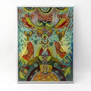 Картина Пташиний рай, живопис на склі