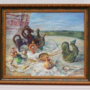 Картина Серпень, живопис, натюрморт, куманець