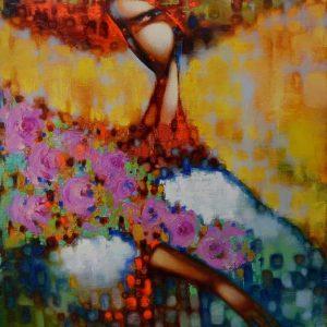 Картина Квіти для нього, картина на подарунок