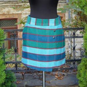 міні-спідниця з витканої декоративної тканини, плахта