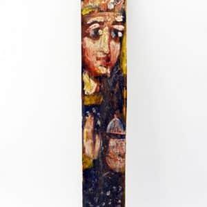 Ікона на гонті Свята Юлія, лики святих на дощеці