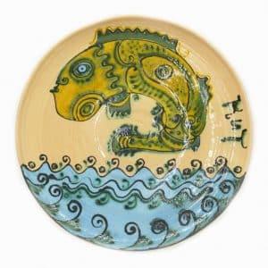 Таріль Кит, декор, посуд, риба