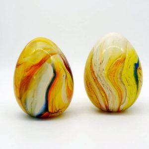 Скляне яйце сувенірне, гутне скло, ручна робота