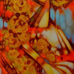 Картина Жовті троянди, живопис на полотні