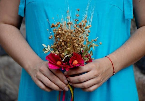 літній сарафан з кольорового льону