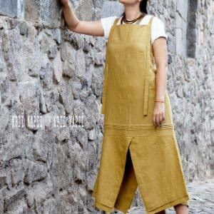 літній сарафан з кольорового льону, літня сукня