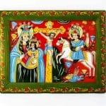 народна ікона на склі Ромка Малка, на дереві, на гонті, народне мистецтво