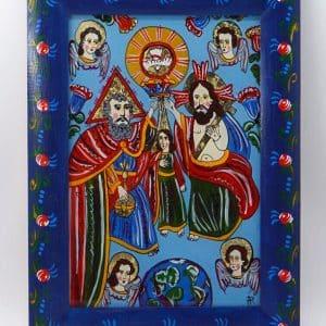 Картина Коронування Марії, ікона на склі, живопис