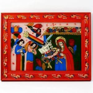 Картина Різдво, живопис на склі, народження Ісуса