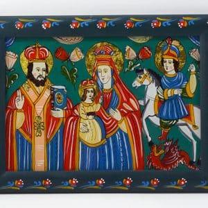 Картина Св.Миколай, Богородиця з дитям, Св.Юрій