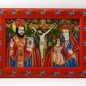 Картина Святий Миколай, Розп`яття, Богородиця з дитям