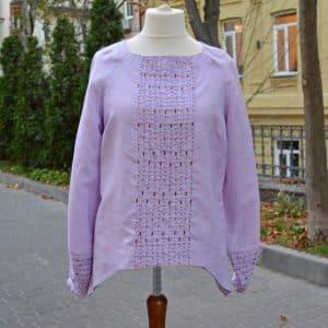 Блуза Льодяник, льон з шовком