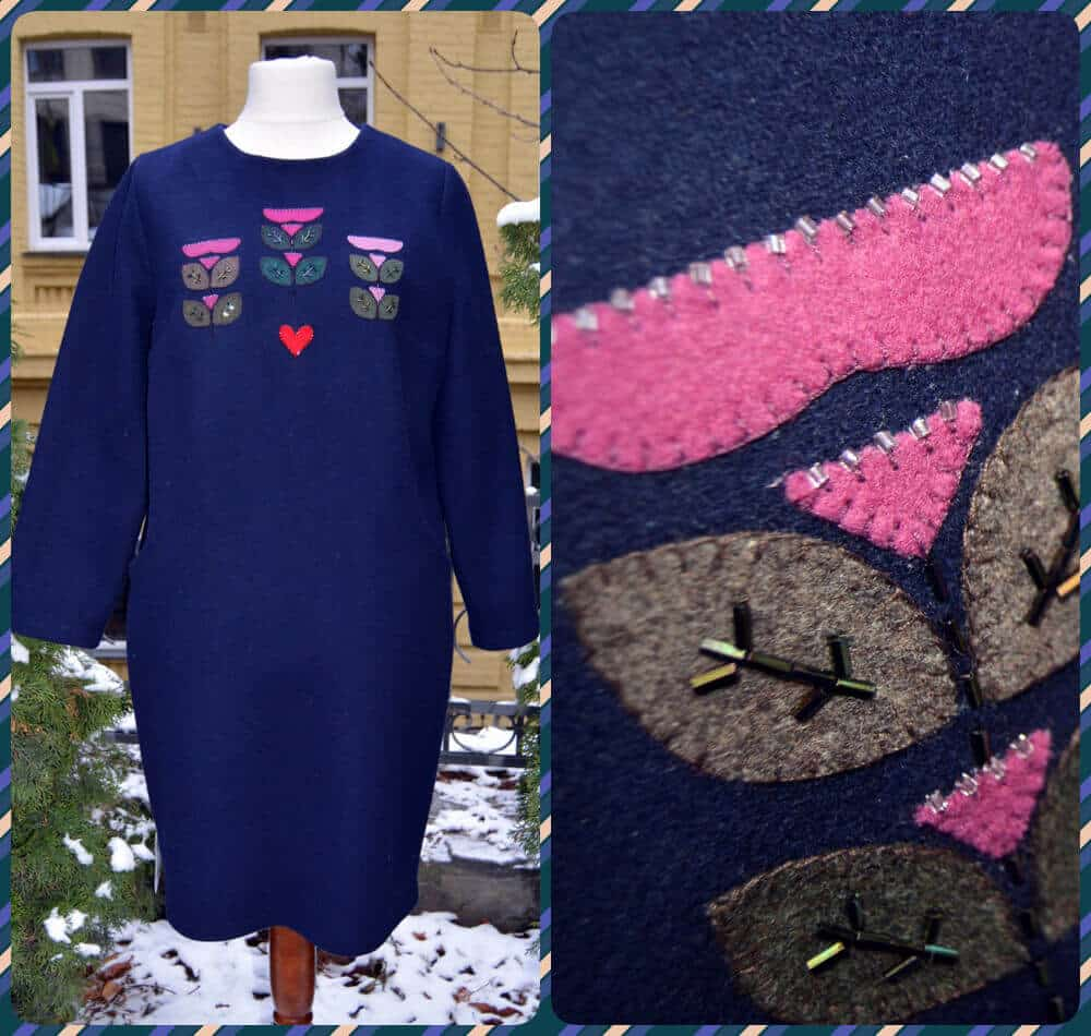 Бохо сукня Букет, аплікація, з кишенями