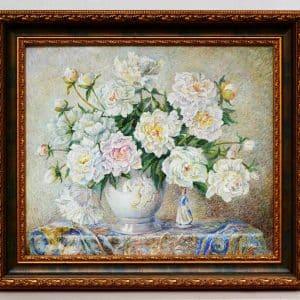Картина Півонії, живопис, натюрморт