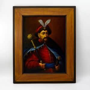 Картина Богдан Хмельницький, полотно, олія, vip подарунок