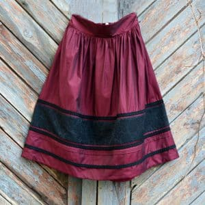 спідниця з кишенями вишня, стилізація, для жінок