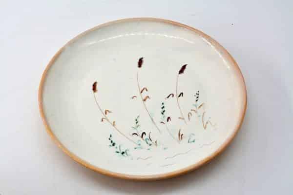 тарілка очерет, керамічний посуд, очерет