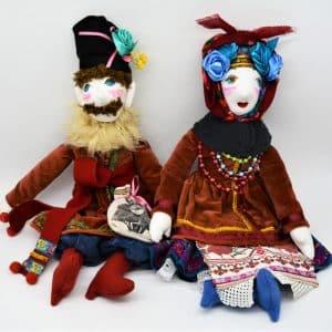 Лялька Пилип і Одарочка, текстиль, будуарна іграшка, нерозлучники