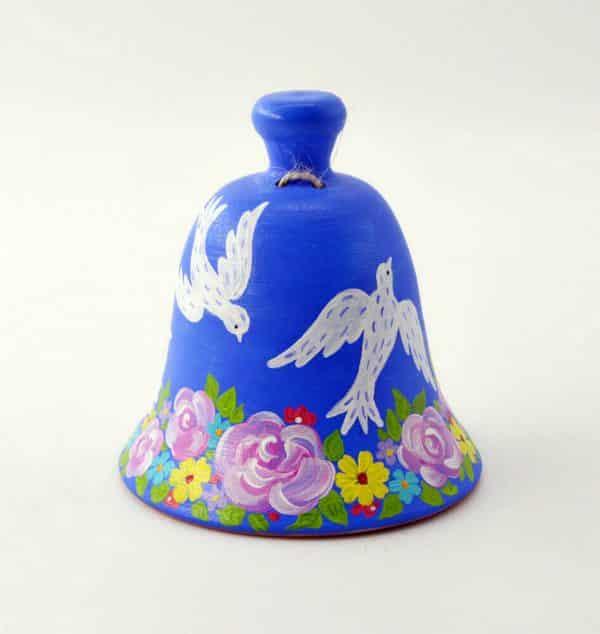 Дзвоник Птахи, кераміка, ручний розпис, за мотивами творчості Марії Примаченко