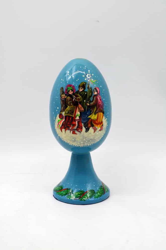 Яйце Колядницьке, різдво, підлаковий розпис