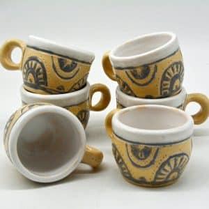 Горнятко Равлик, керамічний посуд, чашка, ритування