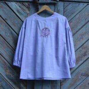 Блуза Бузок, ручна вишивка гаддю