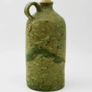 Пляшка Зелена, керамічний вжитковий посуд