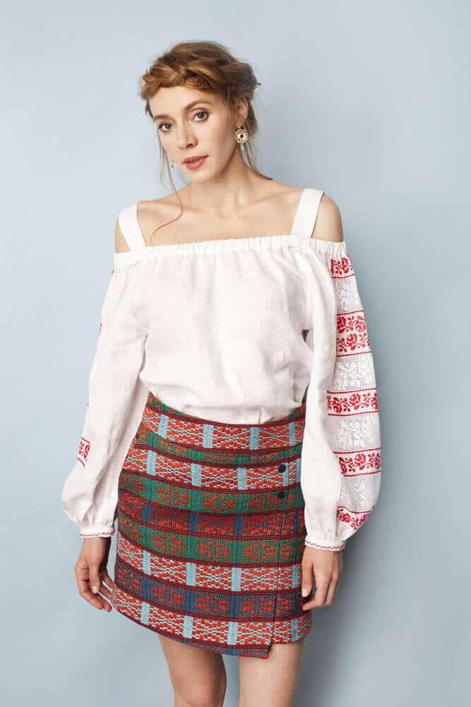 Міні-спідниця Плахта, тканина своїми руками, спідниця ручної роботи