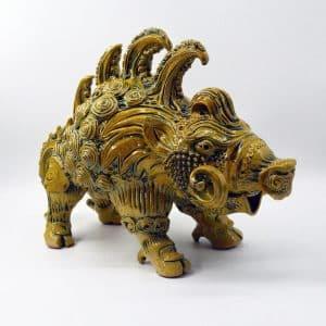 Скульптура Кабанчик, кераміка, звір