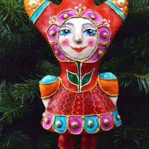 Іграшка підвісна Мадам Тюльпан, пап`є-маше