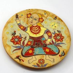 Декоративна таріль Метелик, під олійний розпис