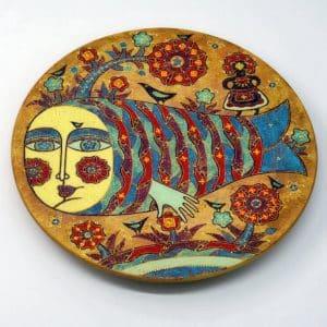 Декоративна таріль Русалка, під олійний розпис, рибка