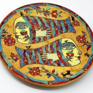 Декоративна таріль Русалки, під олійний розпис