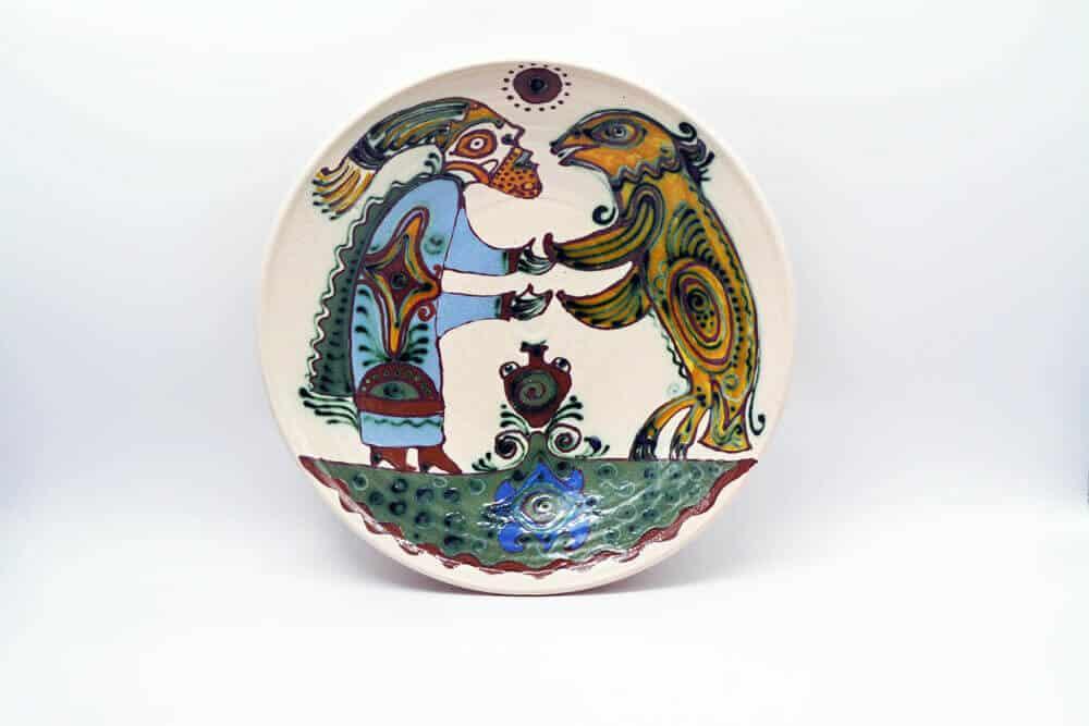 Таріль Танець, керамічний декор, тарілка