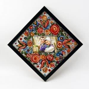 Фоторамка Квіти, картина на склі