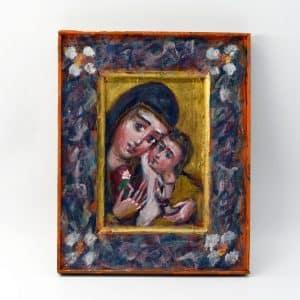 Народна ікона Богоматір, богородиця, марія з дитям