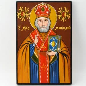 Народна ікона Святий Миколай, ікона на дереві