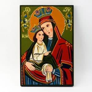 Народна ікона Марія з дитям, богородиця