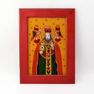 Ікона на склі Миколай, зображення святого