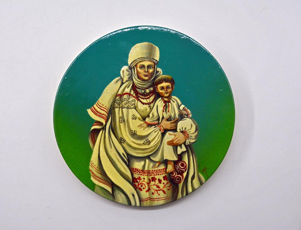 Декоративна таріль Мати, сувенірна тарілка для декору
